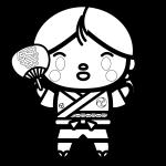 happi-girl_01-blackwhite