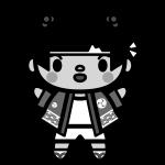happi-girl_02-monochrome