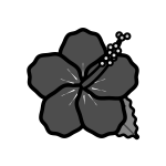 hibiscus_02-monochrome