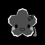 hibiscus_character-monochrome