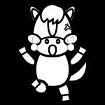 horse_angry-blackwhite