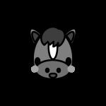 horse_face-monochrome