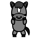 horse_sad-monochrome