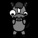 horse_shock-monochrome