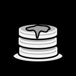 hotcake_01-syrup-dish-monochrome