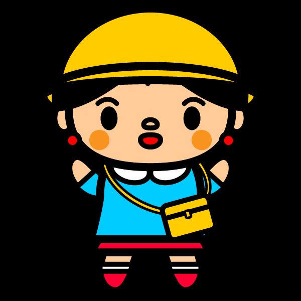 かわいい幼稚園の女の子の無料イラスト・商用フリー