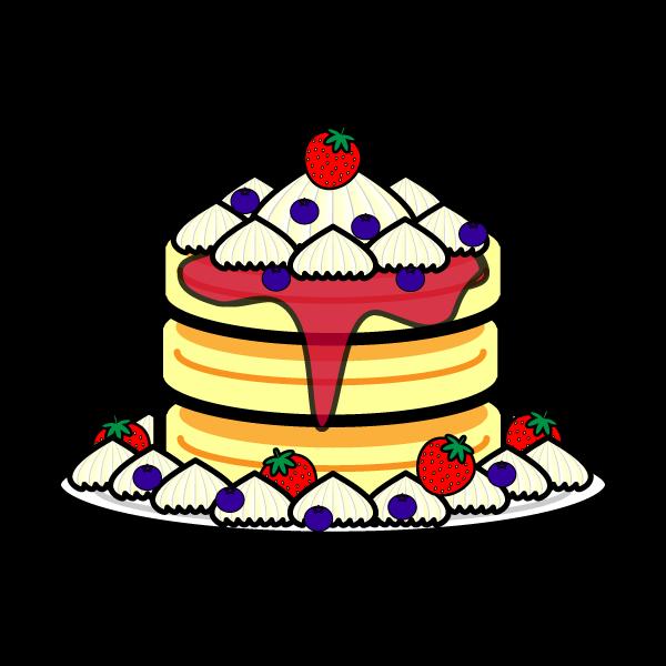 かわいいパンケーキの無料イラスト・商用フリー