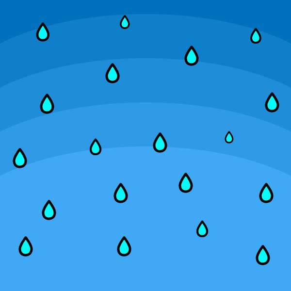 かわいい雨の無料イラスト・商用フリー