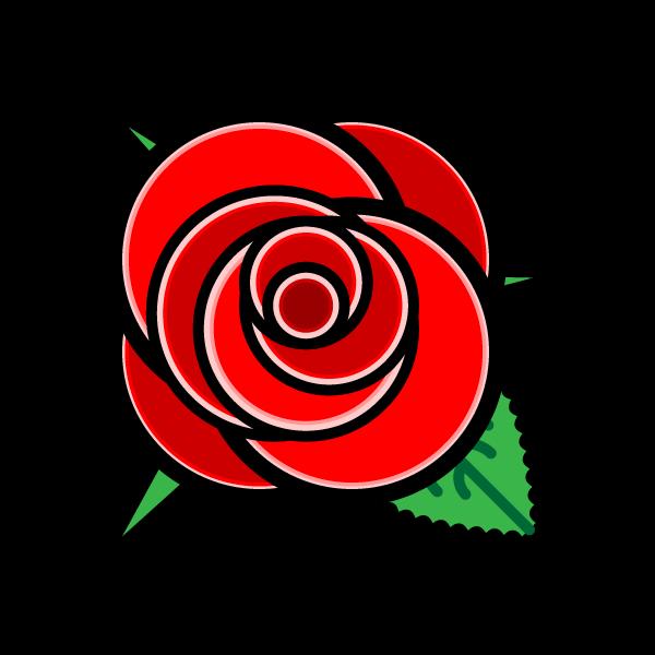 かわいいバラ2の無料イラスト・商用フリー