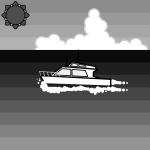 sea_summer-ship-monochrome