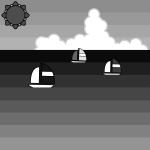 sea_summer-yacht-monochrome