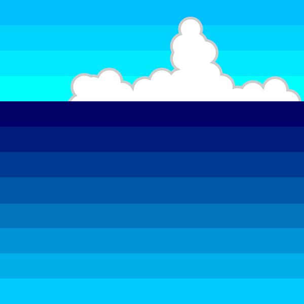 かわいい夏の海の無料イラスト・商用フリー
