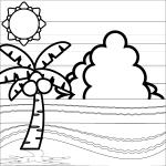 seaside_summer-palm-trees-blackwhite