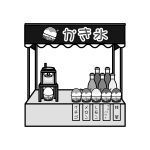 shaved-ice_01-street-stall-monochrome