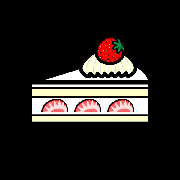 かわいいショートケーキの無料イラスト・商用フリー