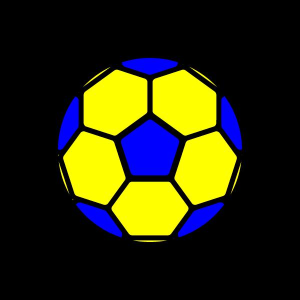 かわいいサッカーボールの無料イラスト・商用フリー