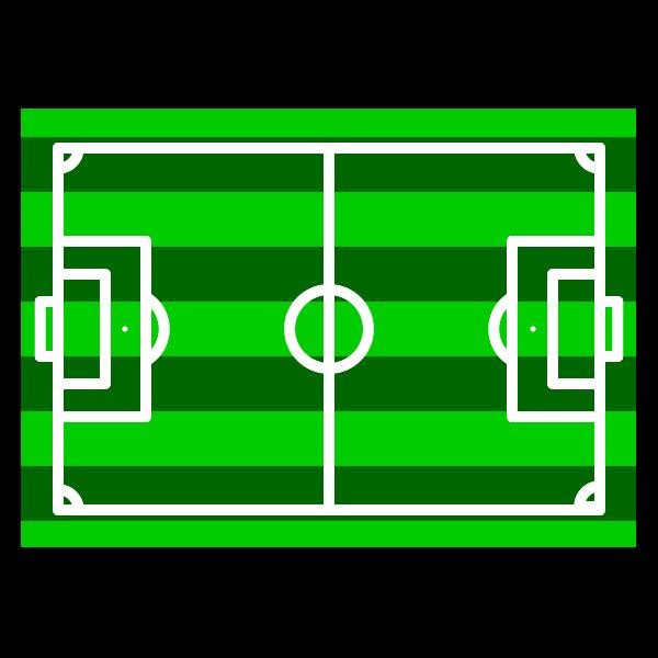 かわいいサッカーコート、サッカー場の無料イラスト・商用フリー