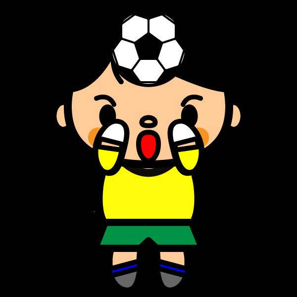 かわいいサッカーキーパーの無料イラスト・商用フリー