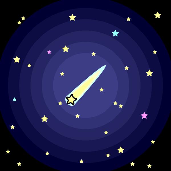 かわいい星空の無料イラスト・商用フリー