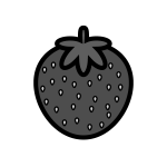 strawberry_01-monochrome