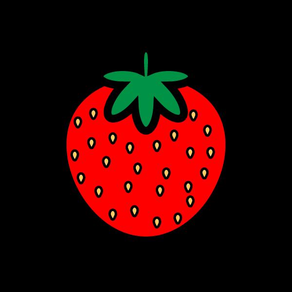 かわいいイチゴの無料イラスト・商用フリー