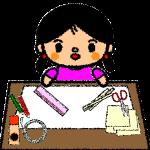 summer-vacation_handicraft-girl-handwrittenstyle