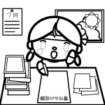 summer-vacation_homework-girl01-blackwhite