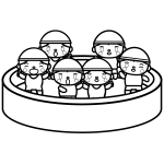 summer-vacation_pool-kindergarten-blackwhite