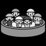 summer-vacation_pool-kindergarten-monochrome