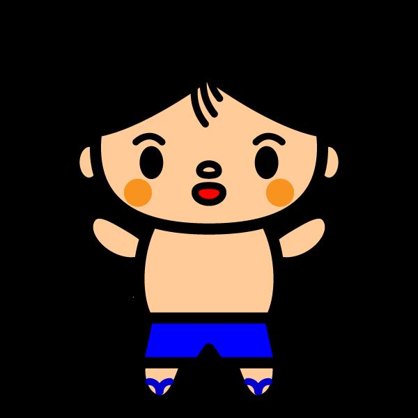 かわいい水着の男の子の無料イラスト・商用フリー