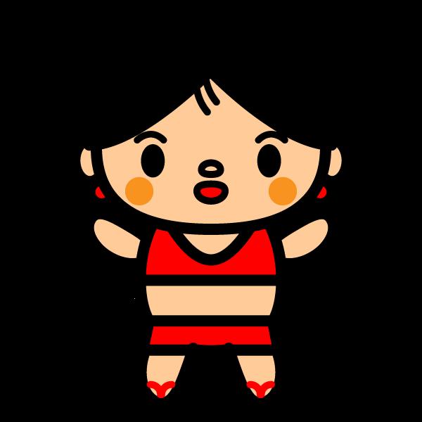 かわいい水着の女の子の無料イラスト・商用フリー