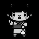 yukata-girl_02-monochrome