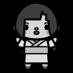 yukata-woman_01-monochrome