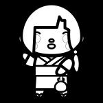 yukata-woman_02-blackwhite
