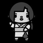 yukata-woman_02-monochrome