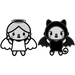 angel_and-devil01-monochrome