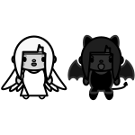 angel_and-devil02-monochrome