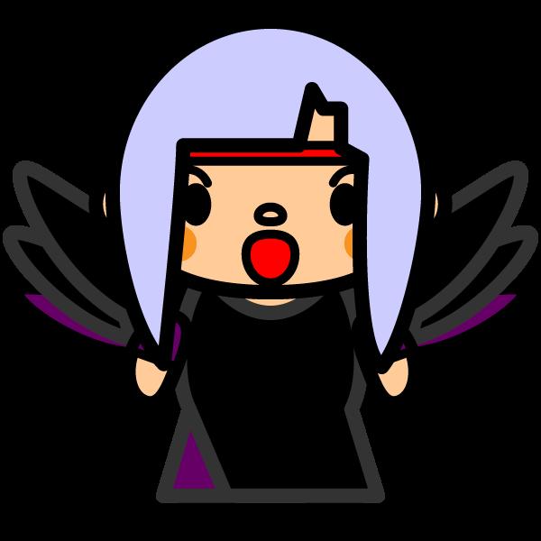 かわいい堕天使の無料イラスト・商用フリー