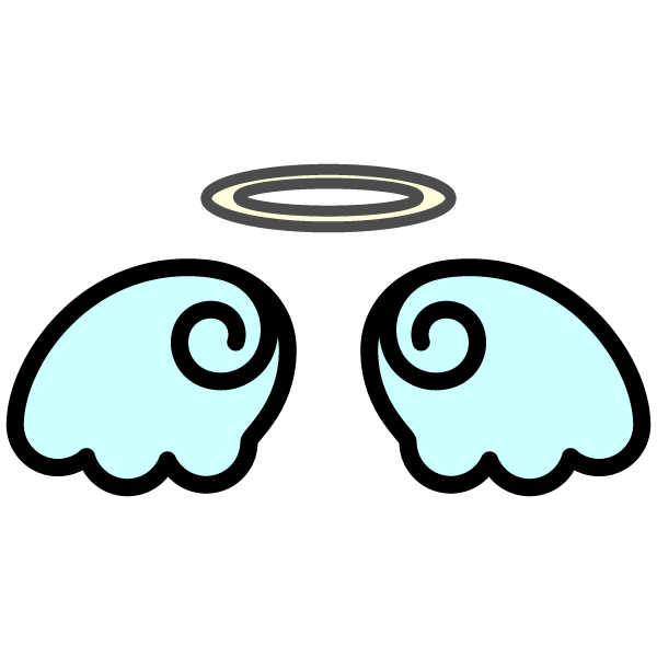 かわいい天使の羽根の無料イラスト・商用フリー