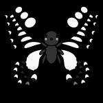 butterfly_swallowtail-monochrome