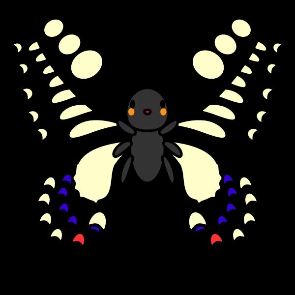 かわいいアゲハ蝶の無料イラスト・商用フリー