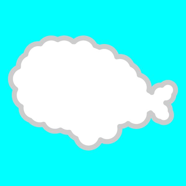 かわいい雲の無料イラスト・商用フリー