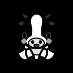 cow_sit-monochrome