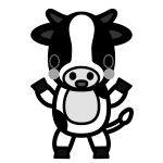 cow_stand-monochrome