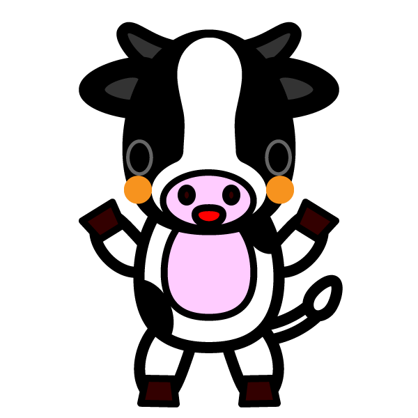 かわいい乳牛の無料イラスト・商用フリー