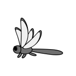 dragonfly_red-side-monochrome