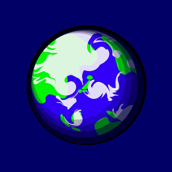 かわいい地球の無料イラスト・商用フリー