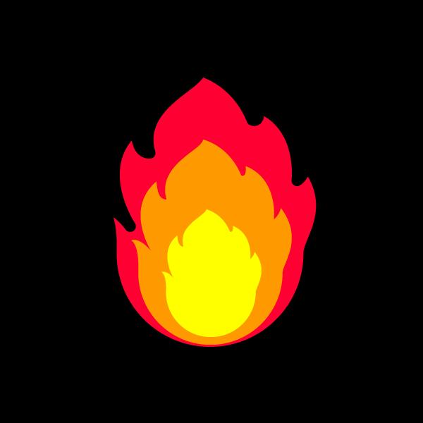 かわいい炎の無料イラスト・商用フリー