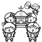 mikoshi_children-blackwhite