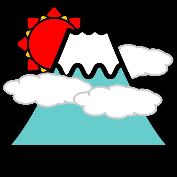 かわいい富士山の無料イラスト・商用フリー